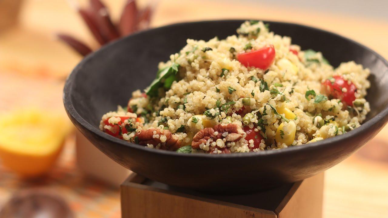 Quinoa Salad With Citrus Dressing Sanjeev Kapoor Khazana Youtube