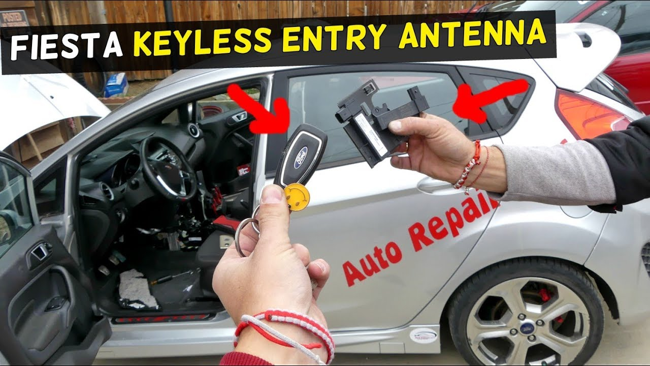 Ford Fiesta Keyless Entry Antenna Receiver Location Removal Replacement Youtube