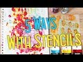 5 Ways To Use Stencils On An Art Journal Page