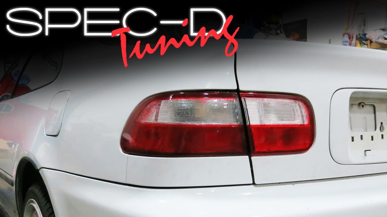 Specdtuning Installation Video 1992 1995 Honda Civic Coupe And Spoiler Sedan Tail Lights