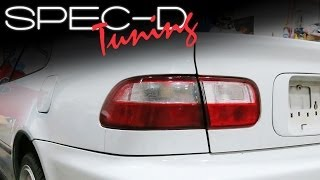 SPECDTUNING INSTALLATION VIDEO: 1992 - 1995 HONDA CIVIC COUPE AND SEDAN TAIL LIGHTS