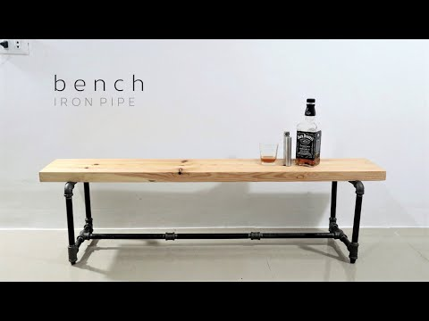 DIY Pipe Bench