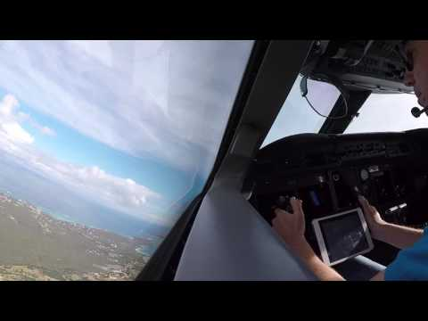 Gulfstream V Cockpit Takeoff Anguilla AXA