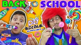 - DIY EDIBLE SCHOOL SUPPLIES Teacher vs Supplies FV Back to School Skit
