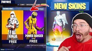 NEW NINJA AND POWER RANGER SKINS LEAKED!! *COMING SOON* FORTNITE BATTLE ROYALE WITH TEAM ALBOE!!