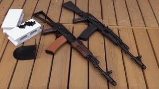 KSC ガスブローバック AK74M & マルイ次世代電動ガン AKS74N thumbnail