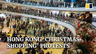 Hong Kong 'Christmas shopping' protests
