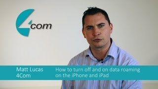 Turning data roaming off and on the iPhone and iPad
