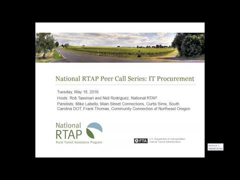 National RTAP Peer Call: Special Topics in Procurement - RFPs for IT