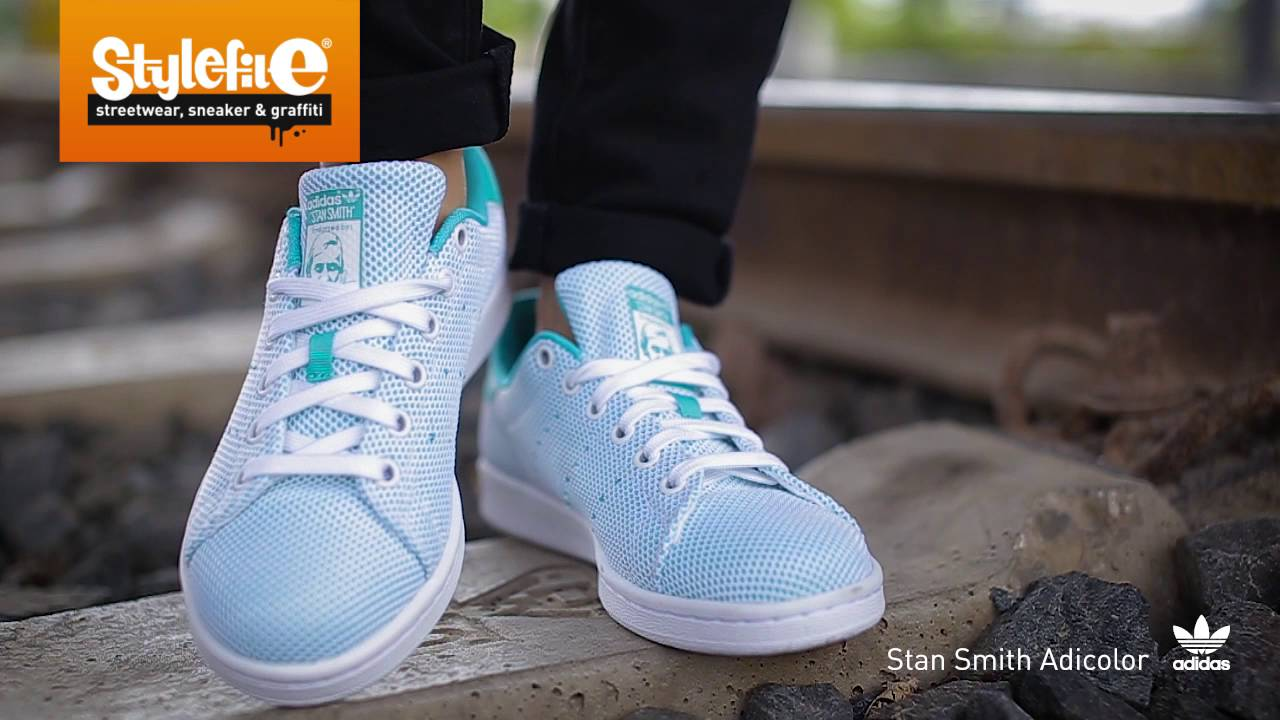 new style a882f db298 adidas Originals Stan Smith Adicolor Sneaker turquoise white (On-Feet)  @Stylefile