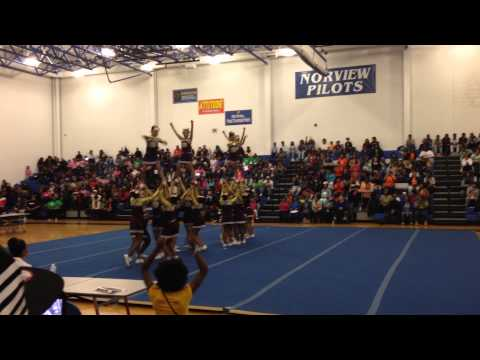 Cradock Middle School 2015 at Cheer Competition