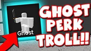 GHOST PERK TROLL!! (Roblox Murder Mystery 2)