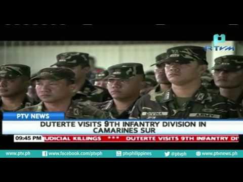 President Rodrigo Duterte visits 9th Infantry Division in Camarines Sur
