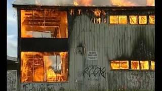 Tamaki College  fully ablaze  Auckland  New Zealand