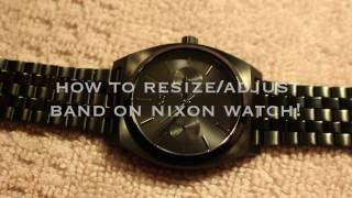 how to resize adjust band on nixon watch