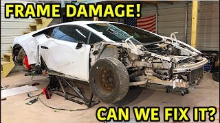 Rebuilding A Wrecked Lamborghini Huracan Part 2 Video
