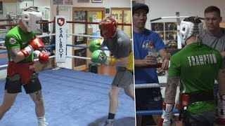 Inside a Carl Frampton sparring session with trainer Jamie Moore