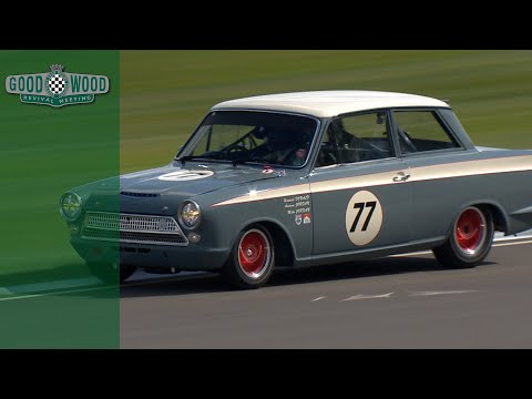 On board Ford Lotus Cortina Mk1 at Revival - YouTube