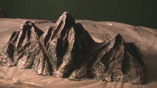 Mt Everest, Rocky Mountains Hot Wire model making