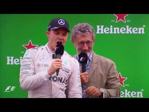 Rosberg singing Italian grand prix 2016