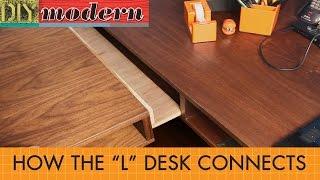 l shaped desk addendum connection