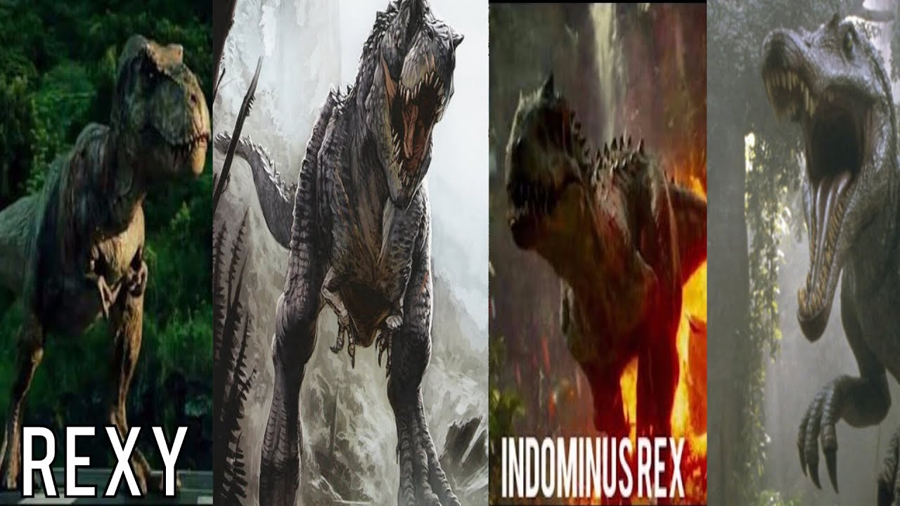 V-Rex vs T-Rex vs I-Rex vs Spinosaurus (HD) - YouTube