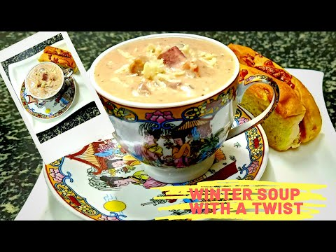 Cheesy Mushroom Veg Soup for perfect winter season||Soup Recipe