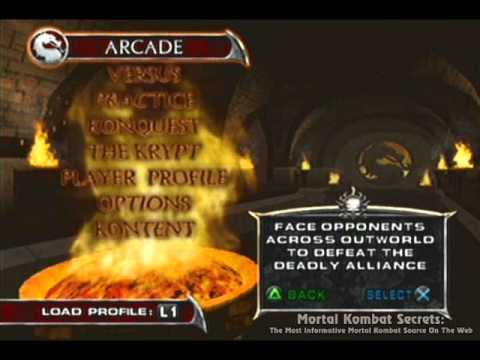 Mortal Kombat Deadly Alliance - Main Menu