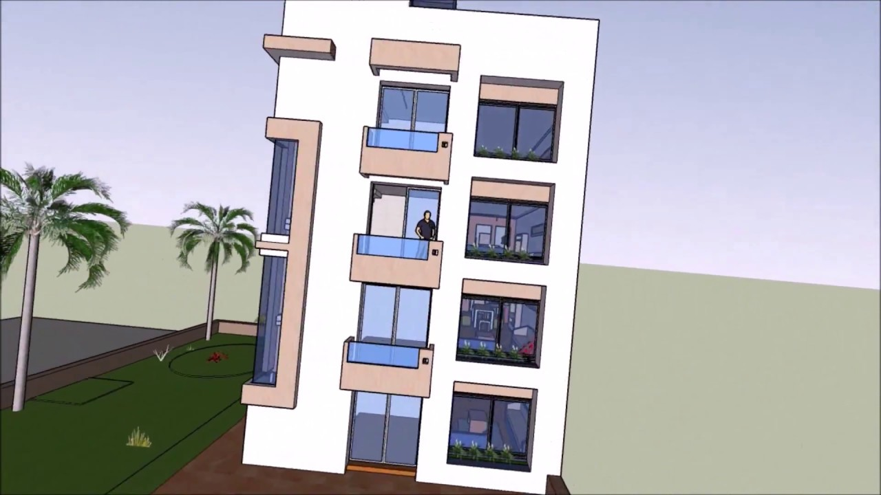 Plano dise o de departamentos terreno 10x20 mts youtube for Habitaciones apartamentos pequenos