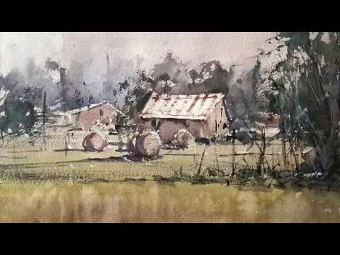 Easy watercolor landscape demo for beginners with Marco Catone