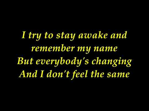 keane - everybody changing with lyrics