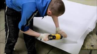 видео Как перетянуть потолок автомобиля своими руками
