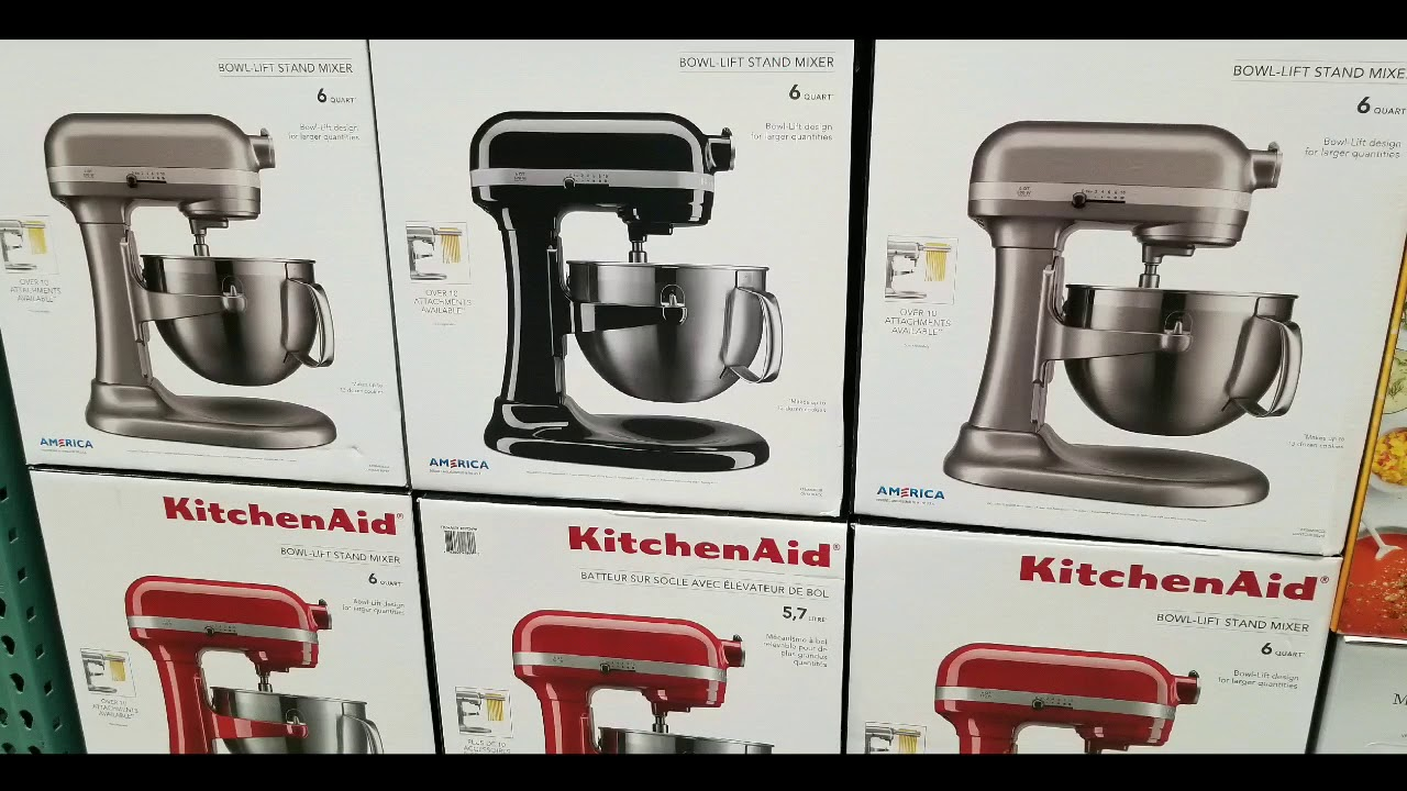 costco kitchenaid 6 qt bowl lift mixer 349 249 youtube rh youtube com costco kitchenaid hand mixer
