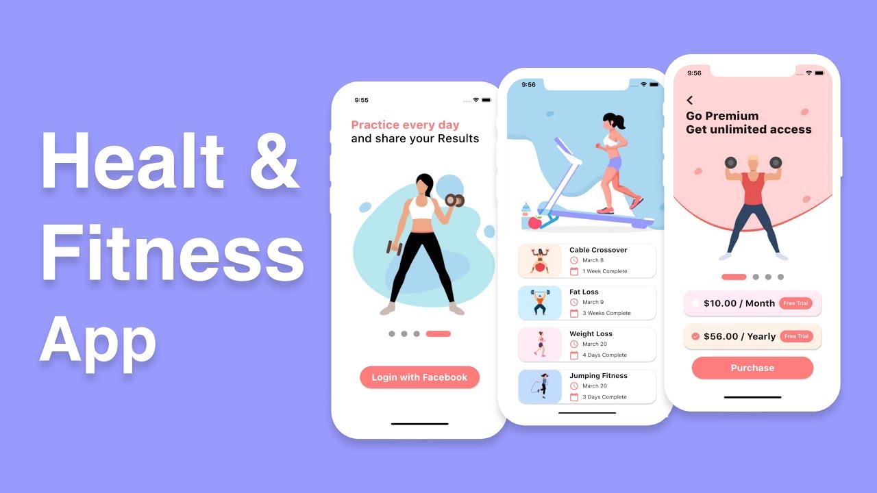 Flutter UI – Health & Fitness App   Speed Code