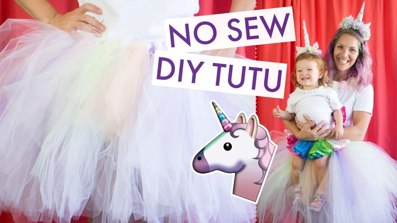 Diy Tutu No Sew Unicorn Costume Balsacircle Com