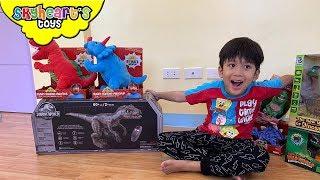 Skyheart's New Dinosaur Toys! Alpha Raptor Blue Ryan's World Dinosaurs for kids