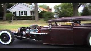 cruzen in the rat rod with air ride