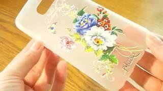 Силиконовый чехол для Galaxy S7 Edge G935 с рисунком цветы со стразами