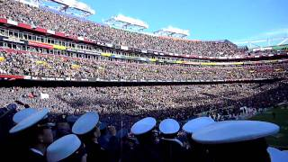 at the army navy game 2011 coin toss and flyover