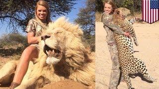 19-letnia cheerlederka uwielbia zabijać dzikie zwierzęta.