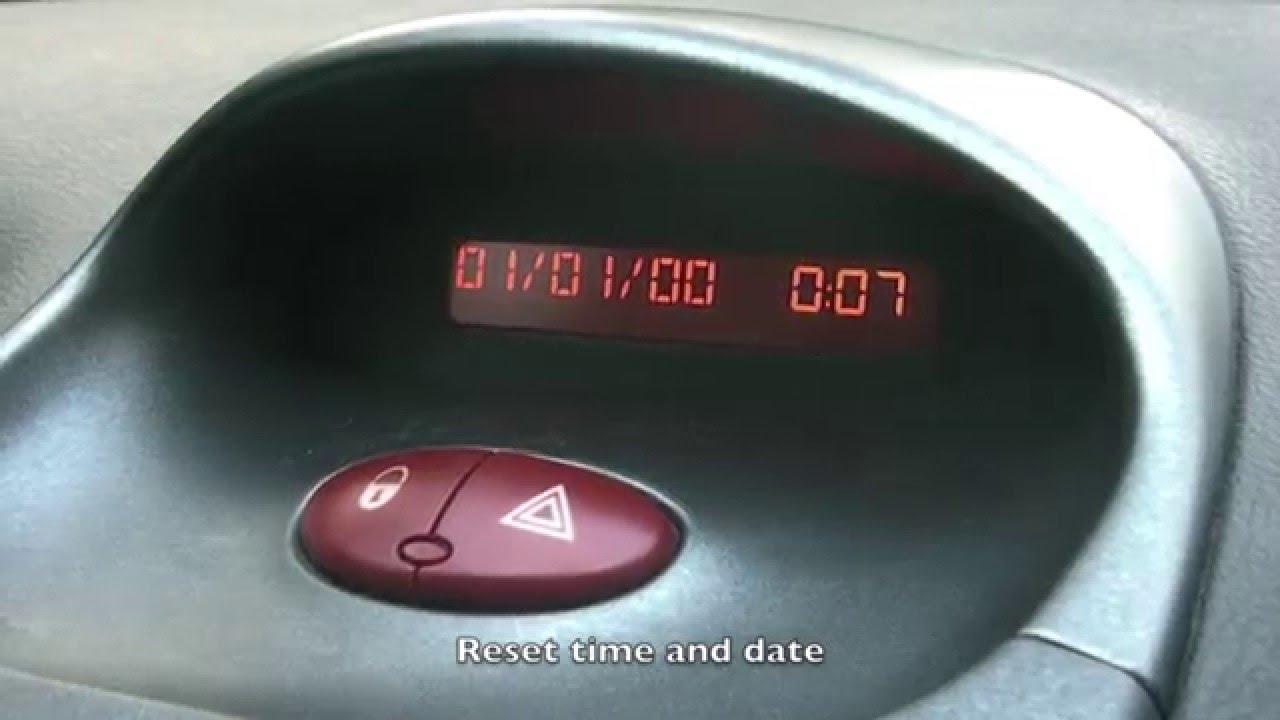 Peugeot 206 Clock Backlight Repair Youtube 306 Fuse Box Brake Lights