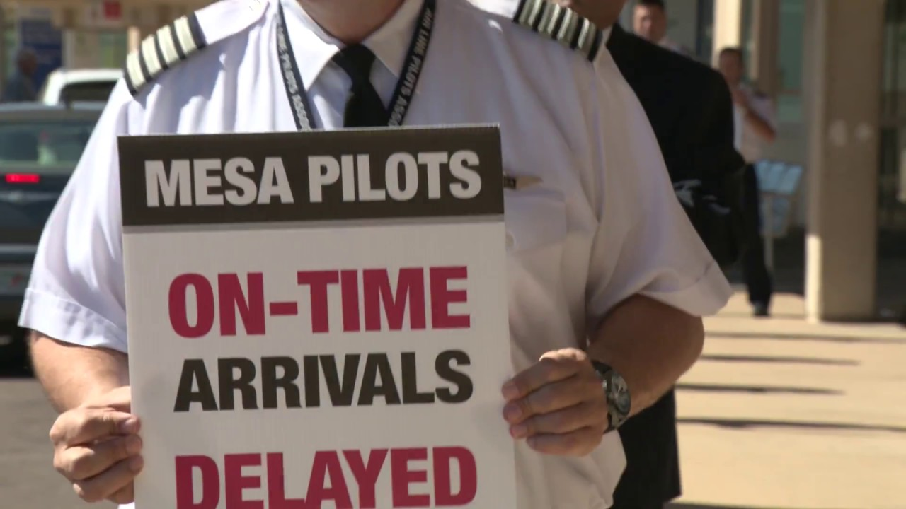 Mesa Airlines Mesa Airlines Pilots Picket Dfw