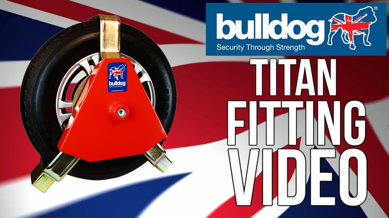 Bulldog Security Products 180//F Titan Heavy Duty Caravan Wheel Clamp