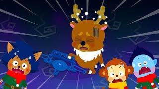 몬스터 크리스마스 #1 | 몬스터 친구들과 루돌프의 만남 | 산타를 찾으러 남쪽나라로! | 크리스마스 동화★지니키즈