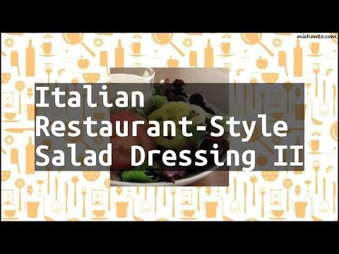 Recipe Italian Restaurant-Style Salad Dressing II