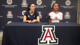 Arizona Wildcats Volleyball Taylor Arizobal Jane Croson 8/31/13