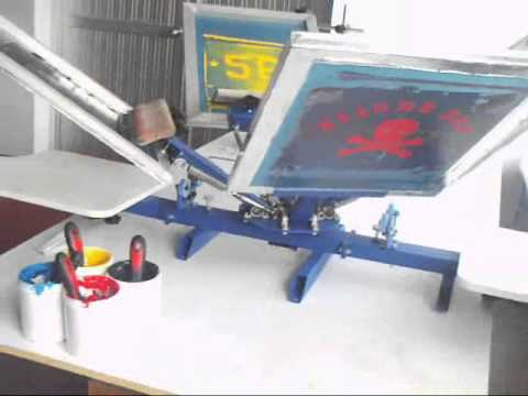 4-1, 4-2 Screen Printing Press Function & Operation Introduction