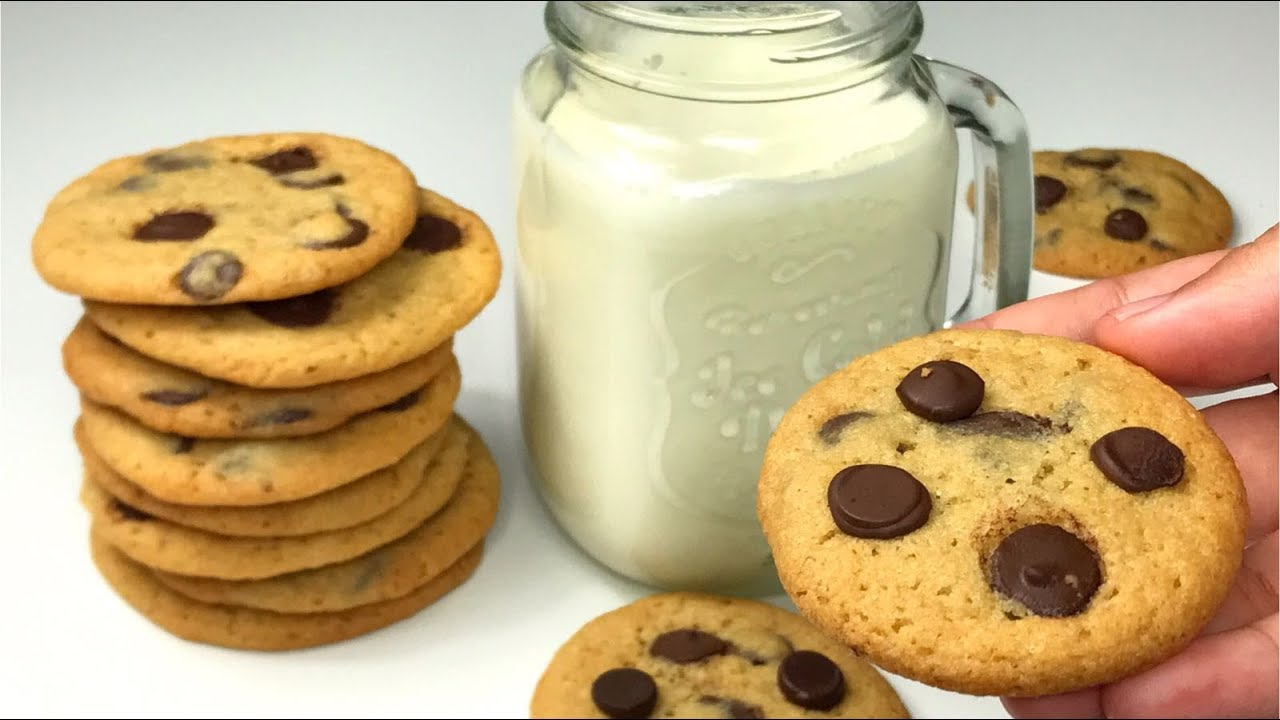 Crispy Thin Chocolate Chip Cookies Recipe Asmr Resepi Biskut Raya Coklat Chip Rangup Youtube