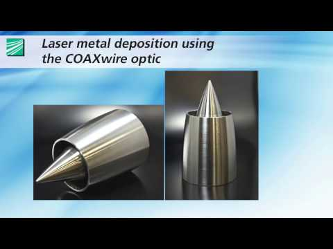 Direct laser metal deposition with coaxial wire supply