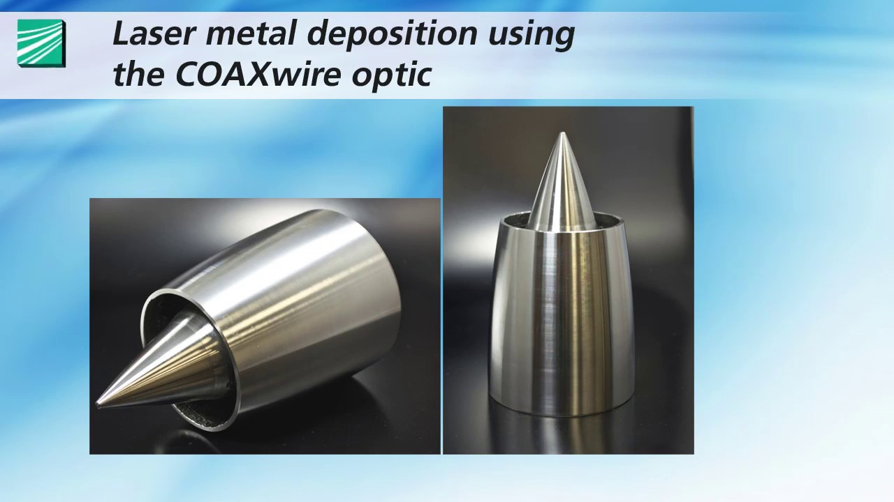 Direct laser metal deposition with coaxial wire supply - YouTube